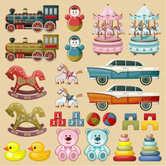 Set of toys. vector