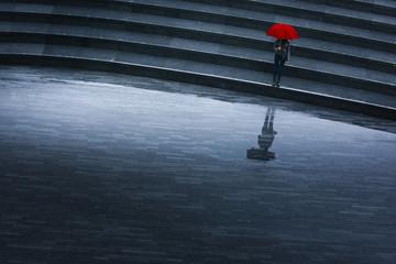 pluie escalier