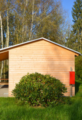 wooden Bungalow at Campingsite
