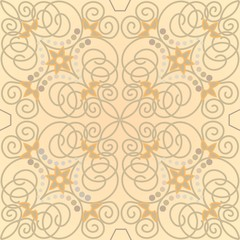 Beige ornamental tile in old style