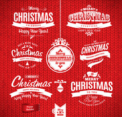 Christmas and happy new year lettering.Type composition. Seamles
