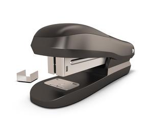 Black stapler illustration.