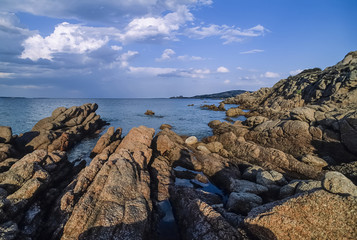 Italy, Sardinia, Arzachena Gulf, view of the rocky coast