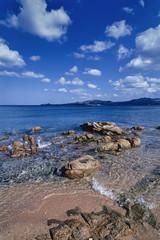 Italy, Sardinia, Arzachena Gulf, the rocky coast - FILM SCAN