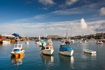 Harbor in Penzance, Cornwall.