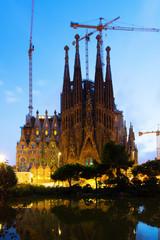 Sagrada Familia in sunset. Barcelona