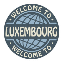 Color stamp with text Welcome to Luxembourg inside