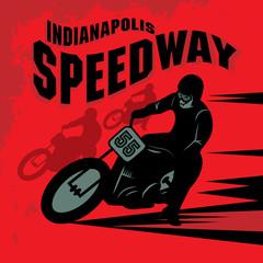 Vintage Motorcycle race label
