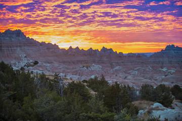 Sunrise in Badlands National Park