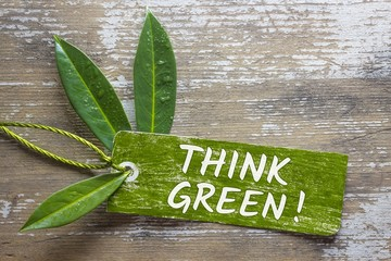 Think Green! Label
