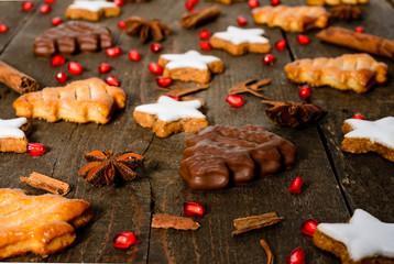 Biscotti di Natale, fuoco selettivo, close-up