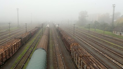 Freight train station - Cargo transportation