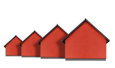 Rote Häuser