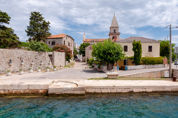 Sight of Osor town in Cres island