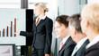 Business - Präsentation für Team mit Statistik