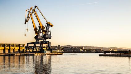 Cranes of the port of Trieste