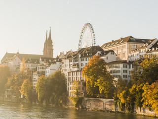 Basel, Altstadt, Münster, Rhein, Morgenstunde, Schweiz