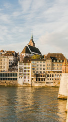 Basel, Altstadt, Martinskirche, Rhein, Rheinbrücke, Schweiz