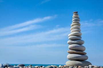 Pyramid of stones for meditation