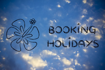 travel industry: booking holidays