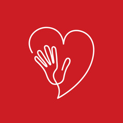 Vector logo friends of the heart, cardiologist
