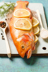 golden trout with lemon