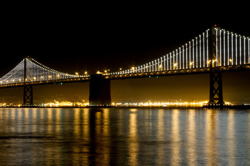San Francisco Bay Bridge Light Display