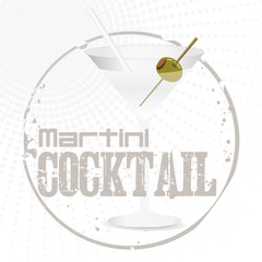 Martini Cocktail Stamp