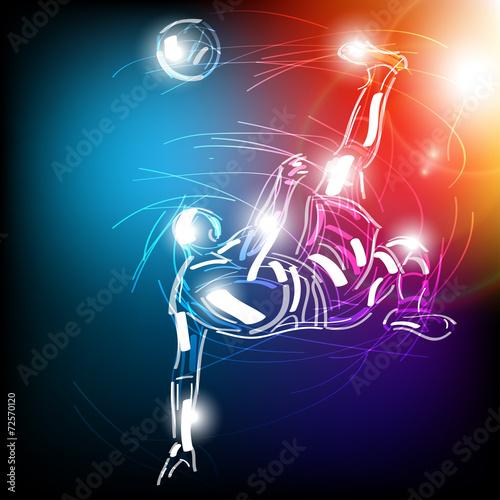 Obraz piłka nożna wektor