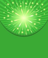 Fireworks congratulations green