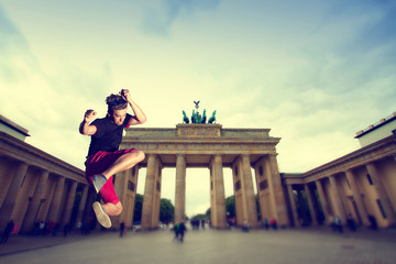 Brandenburg Gate. tillt-shift