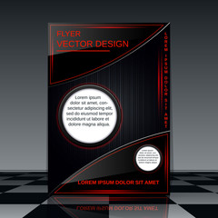 Futuristic flyer vector template
