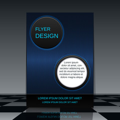 Futuristic flyer vector template
