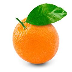 Orange over white background