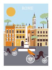 Rome city. Vector