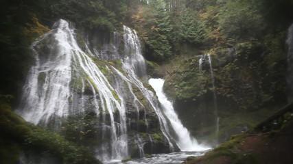 Panther Creek Waterfalls in Skamania County Washington