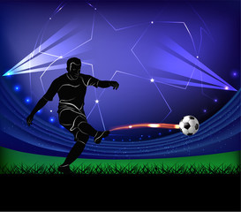 football player - shot