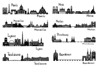 8 cities of France