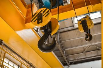 Industrial crain closeup photo