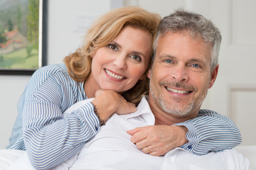 Embracing Mature Couple