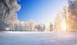 Leinwandbild Motiv winter sunset