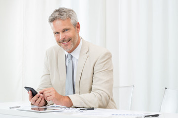 Businessman At Cellphone
