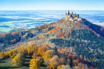 Hohenzollern im Herbst / Schwäbische Alb / digit.Crossentwickelt