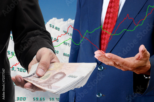 Poster Investor make money from stock exchange concept