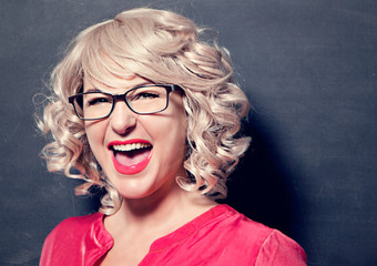 screaming lady with glasses-business rocks 12
