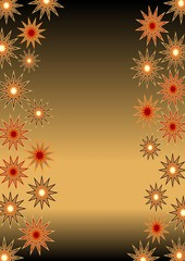 Christmas background for own text with glossy stars