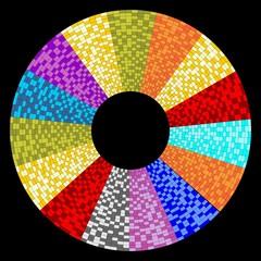 Circle object designed as mosaic circular sector