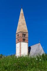 Church through the meadows