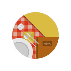 Flat icon for cafe or restaurant