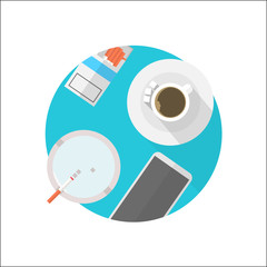 Flat icon for break table